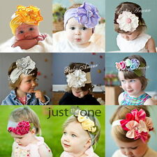 Cute Baby Kids Girls Infants Hair Decoration Cotton Flower Elastic Headband New