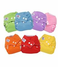 All in One Reusable Washable Baby Cloth Diaper Nappy + Bamboo Insert  Boys Girls
