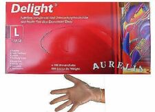 AURELIA Disposable Clear Vinyl Powder & Latex Free Gloves 10 100 200 300 *CHEAP