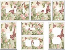 Light Switch Cover Plates - Pink Butterfly Floral I