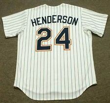 RICKEY HENDERSON San Diego Padres 1996 Majestic Cooperstown Home Baseball Jersey