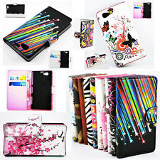 Style PU Leather Wallet Stand Magnetic Flip Case Cover For Sony Xperia Z1 MINI