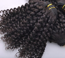 BRAZILIAN HUMAN HAIR EXTENSIONS HAIR WEFTS Kinky Curly 8'' TO 30'' 100G/PCS