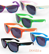 New Large Colorful Fashion Retro 80s Wayfarer Beach Sunglasses For Men and Women