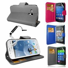 New PU Leather Wallet Case Cover For Samsung Galaxy/Nokia/HTC/Huawei+Film&Stylus