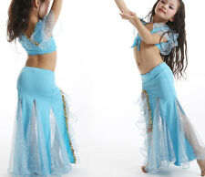 KID's 2pcs set Blouse and Skirt Belly Dance Halloween Costumes Professional