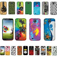 FOR SAMSUNG GALAXY S 4 I9500 I9505 I337 Cat Family 2 HARD CASE Rubberized Cover