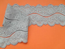 "~ Pretty Silver Grey Stretch Scalloped Lace 2""/5.5cm Lingerie/Costume/Craft"