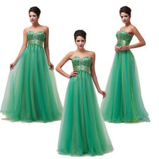 2014 New Stock Strapless Bridesmaids Formal Ball Gown Evening Prom Party Dresses