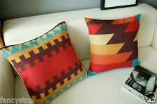 Ikea Color Cotton&Linen Abstract Great Wall Print Sofa cushion case/pillow cover