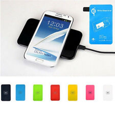 Universal 7Color Qi Wireless Charger Pad+Receiver F Samsung GalaxyS3 S4 S5 Note3