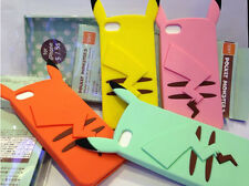 New arrive Cute LOVELY Pikachu Silicone Cell phone Cases For iPhone 4 4S 5 5S