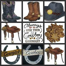 Cowboy Cowgirl  Collection  Embroidered Iron On Patches