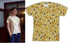 AB Popular Funny Doge Wow Such Face Much Meme DOG Reddit Summer T SHIRT TEE TOPS