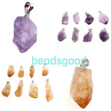 Natural Irregular Gemstone Gem Stone Healing Point Chakra Pendants For Necklace