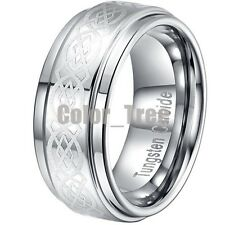 9MM Tungsten All Size Mens Carbide Man Wedding Band Ring Never Tarnish