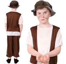 BOYS TUDOR COSTUME CHILD'S HISTORIC SCHOOL FANCY DRESS POOR BOY STREET URCHIN