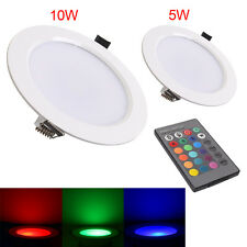 New 5W/10w RGB LED Ceiling Down Lights Recessed spot Lamp Bulbs with Remote Ctrl