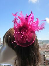 Ladies Women Sinamay Feather Hair Clips Fascinator Wedding Party Cocktail A151