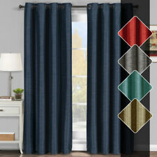 Tonal Stripe Elegant Galleria Blackout Thermal-Insulated Grommet Window Curtains
