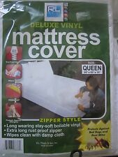 RL Plastic Deluxe Vinyl Mattress Cover Zipper Style Twin, Queen, Full  or King
