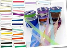Organza Ribbon On Reels  25 Colours 6 Widths  Sheer,Organdy,Presents,Hair