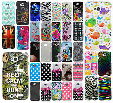 LG Optimus L70 HARD Protector Case Phone Cover Accessory + Screen Protector