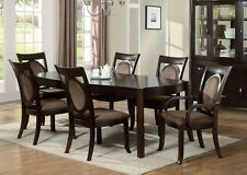 Vienna Dining Table 7Pcs Set Dining Room Furniture Set Vienna Dark Cherry Finish