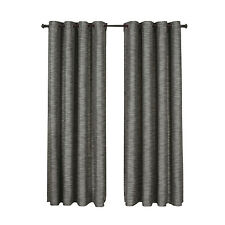 Single Gray Galleria Blackout Thermal Insulated Tonal Stripe Grommet Panel