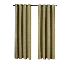 Beige-Tan Tonal Stripe Galleria Blackout Thermal Insulated Grommet Window Panel