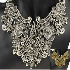 NEW Vintage Jewelry Chunky Flower Statement Bib Pendant Chain Choker Necklace