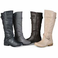 Journee Collection Women's 'Harley' Buckle Accent Wide Calf Boots
