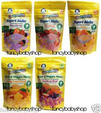 Gerber Graduates Yogurt Melts Fruit Veggie Berry Melts Snacks 1 oz , You Choose