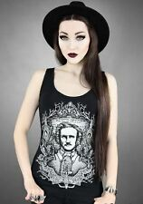 Restyle Edgar Allan Poe Gothic Horror Vest Top Tank pinup psychobilly