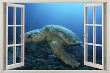 turtle Sea Window Instant View sea Beach Tropical Wall Graphic Decal Sticker