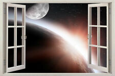 Space Earth Wall Decal stars Art Vinyl Window Removable Home Sticker Sticker 3d