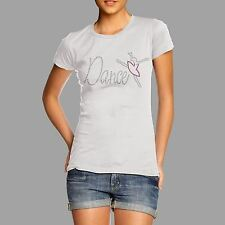 Women's Rhinestone Dance Ballet Dancer Diamante T Shirt