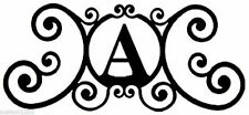 "Made in America Colonial House Letter A-Z Wrought Iron 24"" Home Personalization"