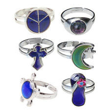 Assorted Styles MOOD CHANGE BAND RING Emotion Feeling Color Changing Adjustable