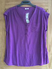 Yessica @ C&a New Purple  Sleeveless  Top Blouse Uk Size 10 - 18 Bnwt