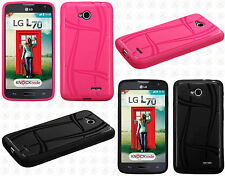 LG Optimus L70 Texture Rubber SILICONE Soft Gel Skin Case Phone Cover Accessory