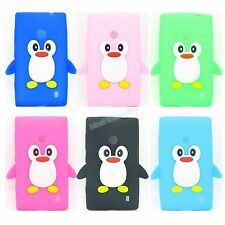 Big Eye QQ Penguin Silicone Soft Case Cover Skin for Nokia Lumia 520 N520