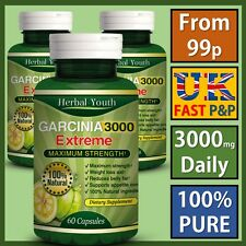 ◆◆ 75% HCA ◆◆ 3000mg Daily◆◆ GARCINIA CAMBOGIA Capsules Natural Weight Loss Diet