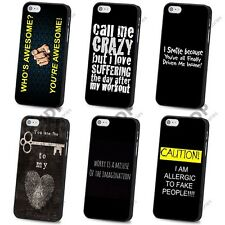 NEW FUNNY QUOTE JOKE VINTAGE BLACK HARD CASE COVER FOR APPLE IPHONE 4 4S 5 5S