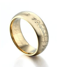 The Lord of the Ring 18k Gold Plated Tungsten Carbide For Men Women