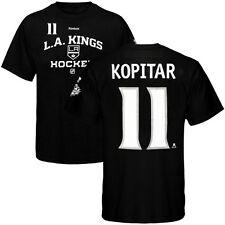 Anze Kopitar REEBOK LA Kings 2014 Stanley Cup Player Jersey Black T Shirt Men's