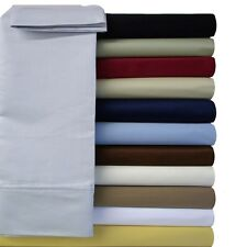 Queen Size 95GSM Solid Sheet Set -Super Soft Wrinkle Free 100% Microfiber Sheets