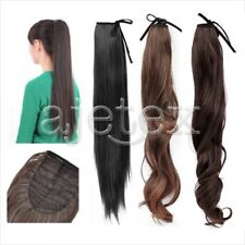 Long Lady Wowen Straight Curly Wavy Claw Clip Ponytail Pony Tail Hair Extension