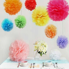 5-12inch Tissue Paper Pom-Poms Flower For Wedding/Party/Home/Outdoor Decorations
