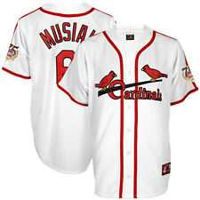 Stan Musial 1947 St Louis Cardinals Cooperstown Jersey w/ HOF 75th Patch Men's